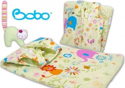 Śpiworek dla dziecka od 2 do 5 lat zielone safari