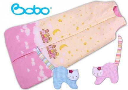 Śpiworek dla dziecka od 2 do 5 lat rózowe chmurki
