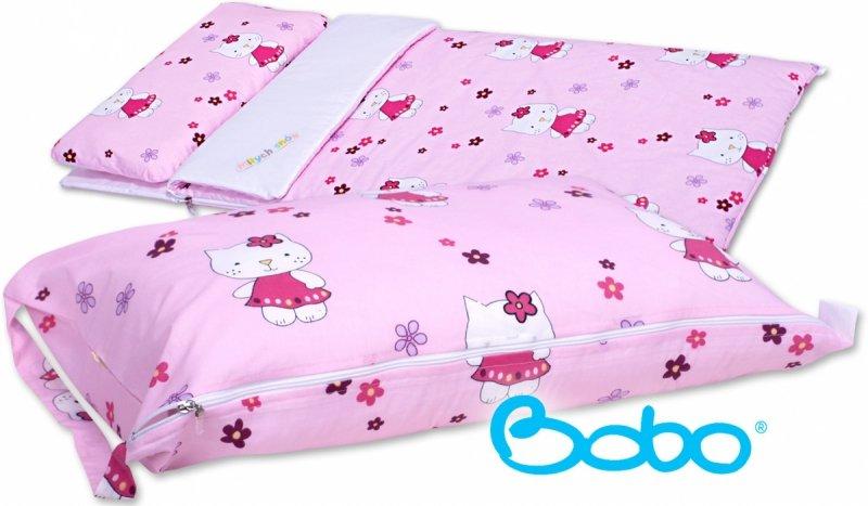 Pokrowiec na śpiworek różowe kotki