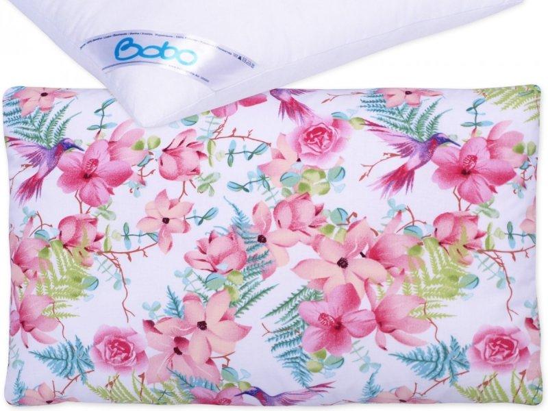Poszewka z poduszką 60x40 cm Różowe kwiaty