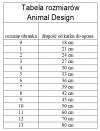 ANIMAL DESIGN Derka DP czarno-czerwona rozmiar 05 33cm