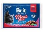 Brit Premium Cat Adult Meat Plate saszetki 4x100g