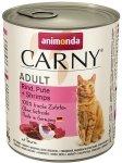 Animonda Carny Cat Adult Wołowina, indyk + krewetki puszka 800g