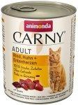 Animonda Carny Cat Adult Wołowina, kurczak + kacze serca puszka 800g