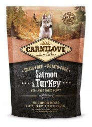 Carnilove Salmon & Turkey  Large Breed Puppy 1,5kg