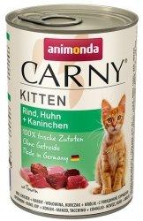 Animonda Carny Kitten Kurczak + Królik puszka 400g
