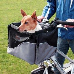 Trixie Torba do roweru przednia czarno-szara