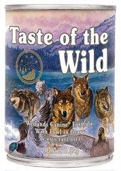 Taste of the Wild Wetlands Canine z mięsem z dzikiego ptactwa puszka 390g