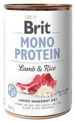 Brit Mono Protein Lamb & Rice 400g - jagnięcina