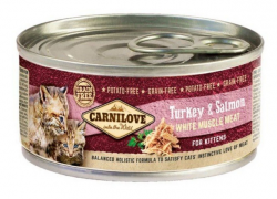 Carnilove Kitten Cat Turkey & Salmon puszka 100g