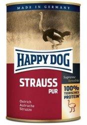 12x Happy Dog Strauss Puszka 100% Struś 400g