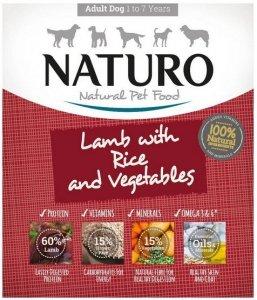 Naturo Adult Jagnięcina z ryżem i warzywami 400g