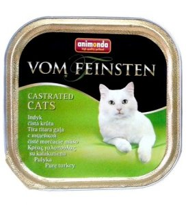 Animonda vom Feinsten Castrated Cats z Indykiem tacka 100g