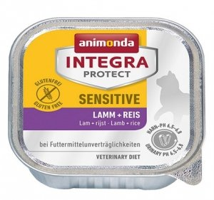 Animonda Integra Protect Sensitive dla kota - z jagnięciną i ryżem tacka 100g