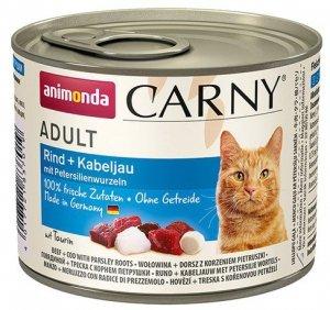 Animonda Carny Cat Adult Dorsz + Korzeń pietruszki puszka 200g
