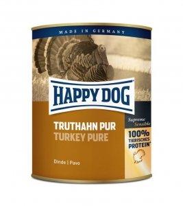 6x Happy Dog Truthahn Puszka 100% Indyk 800g