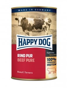 6x Happy Dog Rind Puszka 100% Wołowina 400g