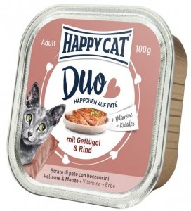 Happy Cat Duo pasztet z drobiem i wołowiną 100g