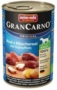 Animonda GranCarno Adult Rind Raucheraal Wołowina + Węgorz + Ziemniaki 400g