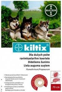 BAYER KILTIX Obroża przeciw pchłom i kleszczom dla dużych psów 70cm