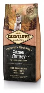 Carnilove Salmon and Turkey  Large Breed Puppy 12kg