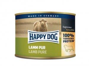 6x Happy Dog Lamm Puszka 100% Jagnię 200g
