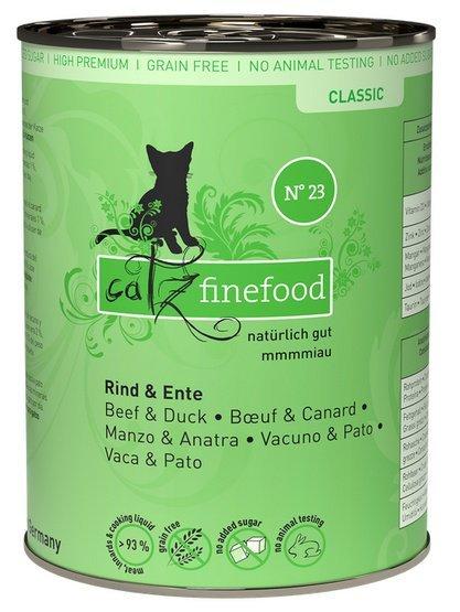 Catz Finefood N.23 Wołowina i Kaczka puszka 400g