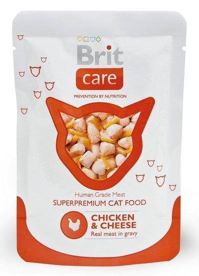 Brit Care Cat Pouch Chicken & Cheese - Kurczak i Ser saszetka 80g