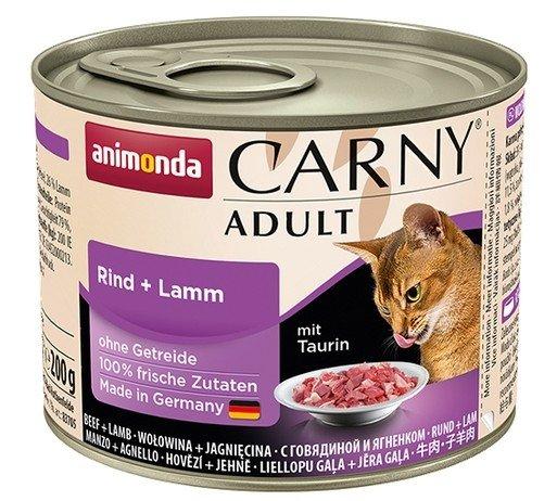 Animonda Carny Adult Wołowina + Jagnięcina puszka 200g