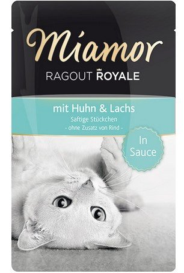Miamor Ragout Royale z kurczakiem i łososiem w sosie saszetka 100g