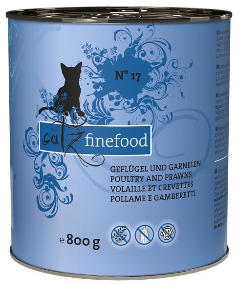 Catz Finefood N.17 Drób i Krewetki puszka 800g