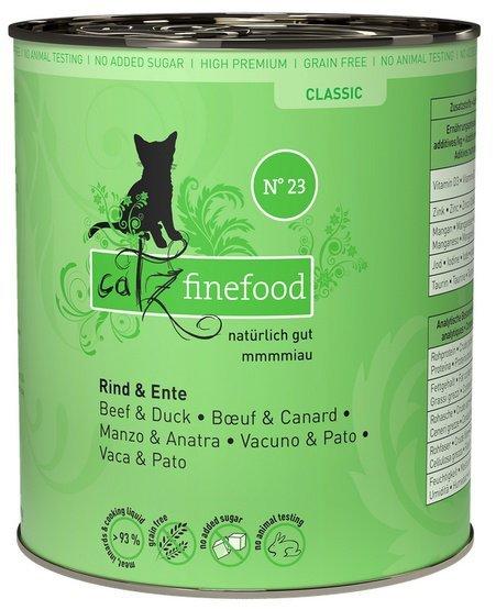 Catz Finefood N.23 Wołowina i Kaczka puszka 800g