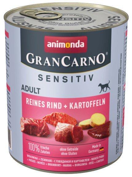 Animonda GranCarno Sensitiv Wołowina Ziemniaki 800g