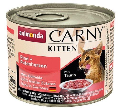 Animonda Carny Kitten Wołowina + Serca Indyka puszka 200g