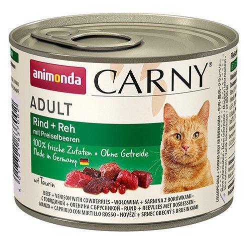 Animonda Carny Cat Adult Dziczyzna + Borówka puszka 200g