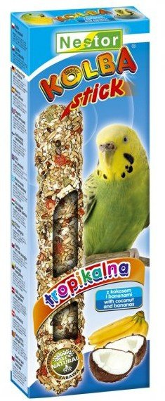 Nestor Kolba Papuga mała owoce tropikalne i kokos 2szt
