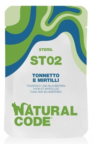 Natural Code Cat ST02 – Tuńczyk i jagody saszetka 70g