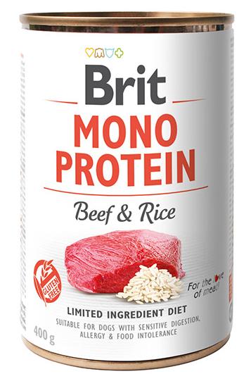 Brit Mono Protein Beef & Rice 400g - wołowina i ryż