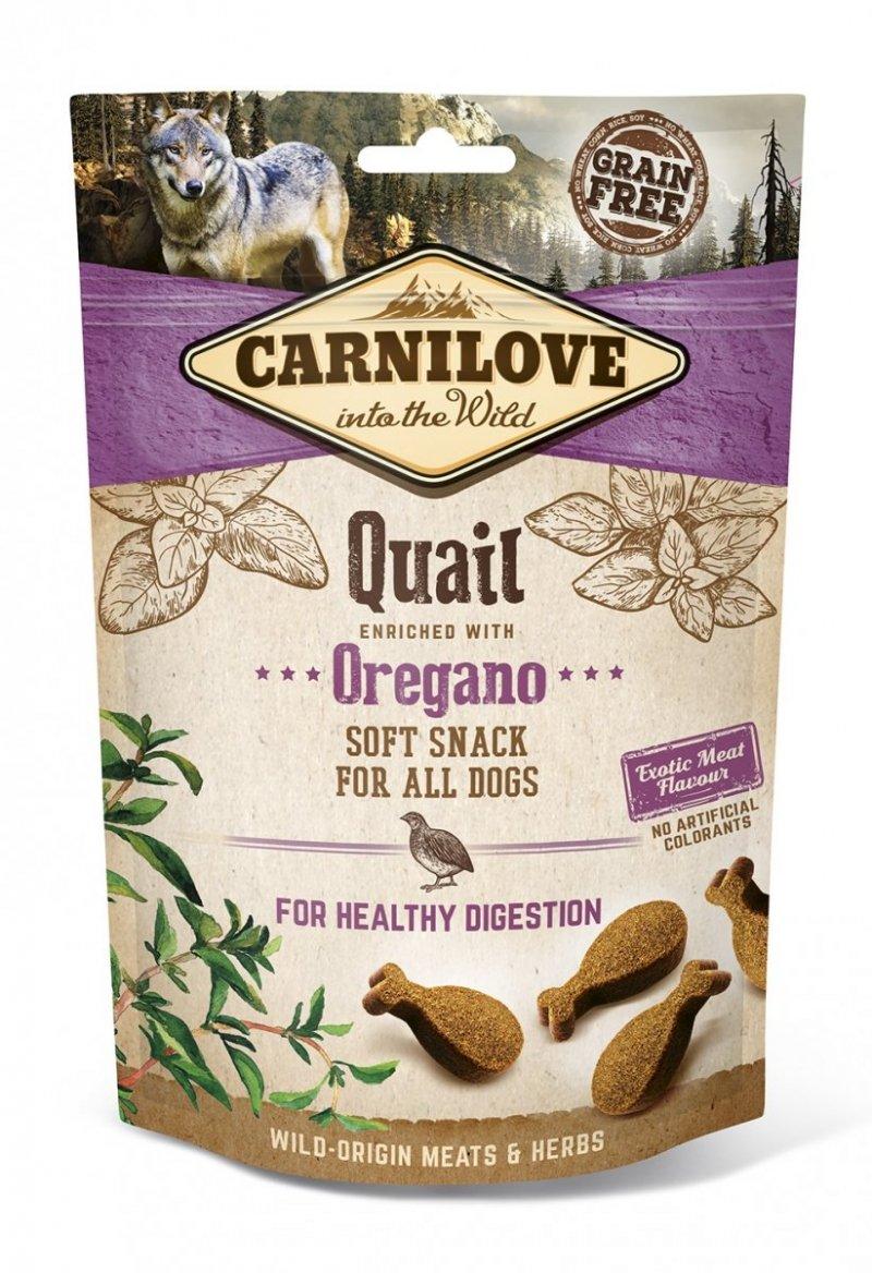 Carnilove Semi-Moist Snack Quail and Oregano 200g