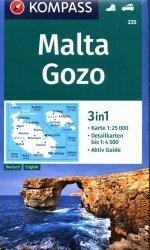 Malta Gozo 3in1 mapa turystyczna 1:25 000