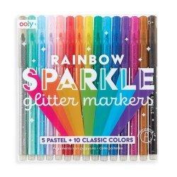 Flamastry z brokatem Rainbow Sparkle Glitter Markers