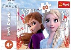 Puzzle 60 Frozen 2 Zaczarowany świat Anny i Elsy