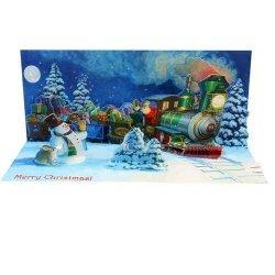 Kartki 3D Santa's Train with Sound