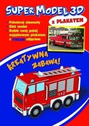 Model 3D do kolorowania plus plakat - Straż pożarna