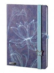 Notes A5 Lanybook Lovely Butterfly w kratkę niebieski