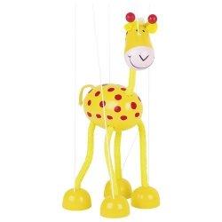 Drewniana marionetka postać Żyrafa