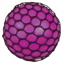 Gniotek w siatce winogrono różowe