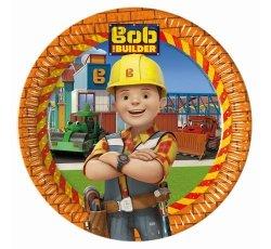 Talerzyki papierowe Bob Budowniczy 23 cm 8 sztuk