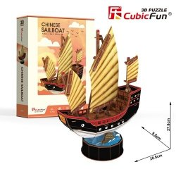 Puzzle 3D Żaglowiec Chinese Sailboat 62 elementy