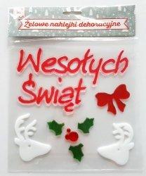 Naklejki żelowe Wesołych Świąt
